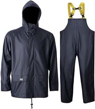 4. Navis Marine Rain Suit for Men Women Heavy Duty Workwear Waterproof Jacket with Pants 3 Pieces