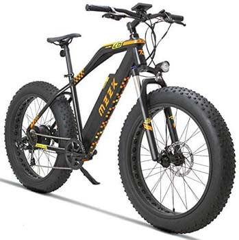 8. MZZK 7-Speed Wide Fat Tire Electric Moped Electric Mountain Bicycles