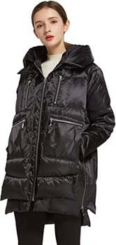 10. Orolay Women's Thickened Hooded Down Jacket