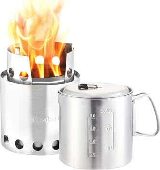 6. Solo Stove & Pot 900 Combo. Ultralight Wood Burning Backpacking Cook System