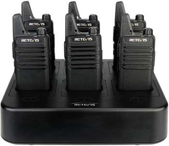 5. Retevis RT22 Walkie Talkies Rechargeable Hands-Free UHF Channel Lock 2 Way Radios Two-Way Radio