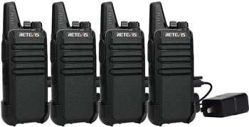 8. Retevis RT22 Walkie Talkies Rechargeable Long Range FRS VOX Emergency Alarm Channel Lock Secure Mini 2 Way Radio Adults Outdoor (4 Pack)