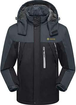 5. GEMYSE Men's Mountain Waterproof Ski Snow Jacket Winter Windproof Rain Jacket