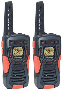 10. COBRA ACXT1035R FLT Floating Walkie Talkies