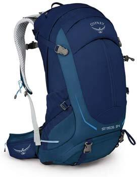 2. Osprey Stratos 34 Men's Hiking Backpack