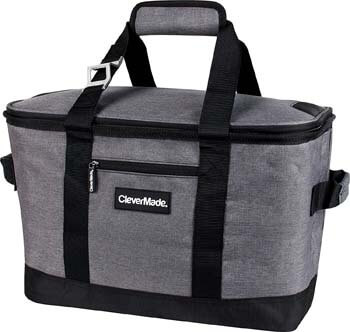4. CleverMade Collapsible Cooler Bag. Insulated Leakproof 50 Can Soft Sided Portable Cooler Bag