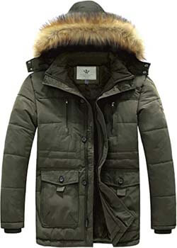 8. WenVen Men's Hooded Warm Coat Winter Parka Jacket