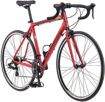 5. Schwinn Volare 1400 Adult Hybrid Road Bike, 28-inch wheel, aluminum frame, Red