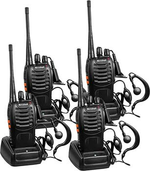 1. Arcshell Rechargeable Long Range Two-Way Radios