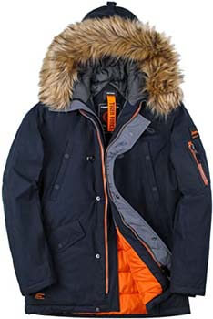 9. TIGER FORCE Parka Coat Winter Men Waterproof Hooded Jacket Quilted Ski Snowjacket Extremely Cold