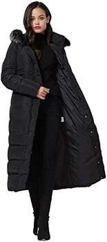 6. Molodo Women's Long Down Coat with Fur Hood Maxi Down Parka Puffer Jacket