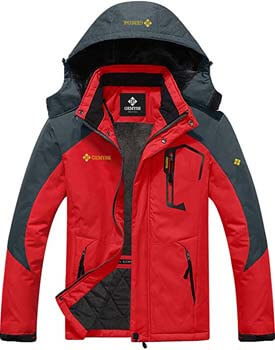 2. GEMYSE Men's Mountain Waterproof Ski Snow Jacket Winter Windproof Rain Jacket