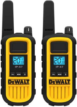 7. DEWALT DXFRS800 2 Watt Heavy Duty Walkie Talkies