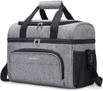 5. Lifewit Collapsible Cooler Bag 32-Can Insulated Leakproof Soft Cooler