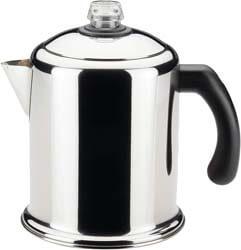 1. Farberware 50124 Classic Yosemite Stainless Steel Coffee Percolator