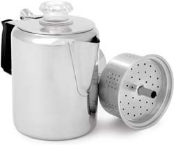 7. GSI Outdoors Glacier Stainless Steel Percolator Coffee Pot