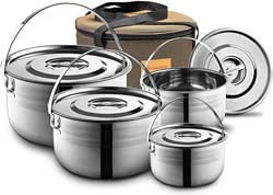 10. Wealers Camping Cookware Set
