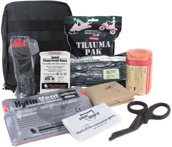 1. MediTac Premium IFAK Kit - Feat. Trauma Pak, CAT Tourniquet, HyFin Vent Chest Seal, Israeli Bandage - Black