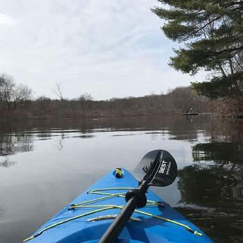 10. Marine Kayak Paddle with Reinforced Fiberglass Blades