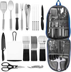 1. NEXGADGET Portable Camping Kitchen Utensil Set