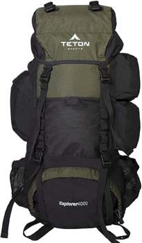 2. TETON Sports Explorer 4000 Internal Frame Backpack; High-Performance Backpack for Backpacking