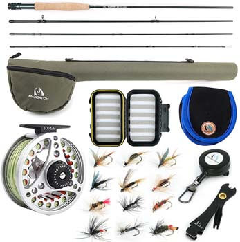2. M MAXIMUMCATCH Maxcatch Extreme Fly Fishing Combo Kit