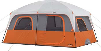 8. Core 10 Person Straight Wall Cabin Tent