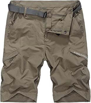 9. Vcansion Men's Outdoor Lightweight Hiking Shorts Quick Dry Shorts Sports Casual Shorts
