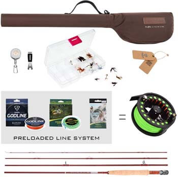 1. FISHINGSIR Fly Fishing Rod and Reel Combo Anglers Fly Fishing Outfit Complete Starter Full Kit