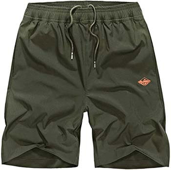 5. EXEKE Men's Quick Dry Shorts Lightweight Hiking Shorts Gym Workout Shorts Zipper Pockets