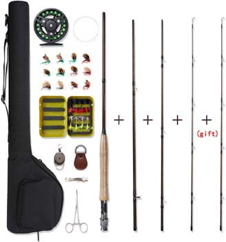 7. NetAngler Fly Fishing Rod and Reel Combo 4-Piece Fly Fishing Rod
