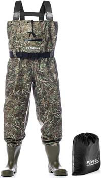 8. Foxelli Nylon Chest Waders – Camo Fishing Waders