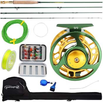 4. Sougayilang Fly Fishing Rod Reel Combos with Lightweight Portable Fly Rod