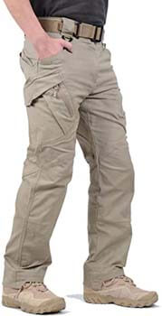 5. LABEYZON Men's Outdoor Work Military Tactical Pants Lightweight Rip-Stop Casual Cargo Pants