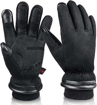 1. OZERO -30 ℉ Waterproof Winter Gloves for Men and Women