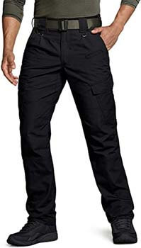 4. CQR Men's Tactical Pants, Water Repellent Ripstop Cargo Pants