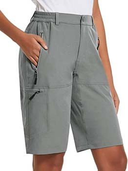 3. BALEAF Women's Quick Dry Hiking Cargo Shorts with Zippered Pockets UPF 50+ for Camping, Travel