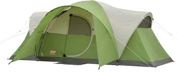 3. Coleman 8-Person Tent for Camping | Montana Tent with Easy Setup
