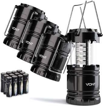 1. Vont 4 Pack LED Camping Lantern