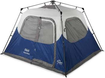 6. Coleman 6-Person Instant Tent Blue