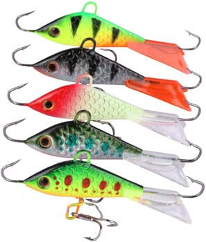 9. Goture Ice Fishing Jigs with Treble Hook Single Hook for Walleye Winter Fishing Lures ice Jigging