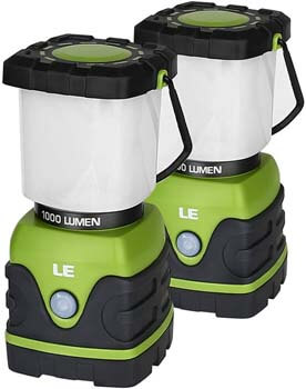 2. LE LED Camping Lantern, Battery Powered LED with 1000LM