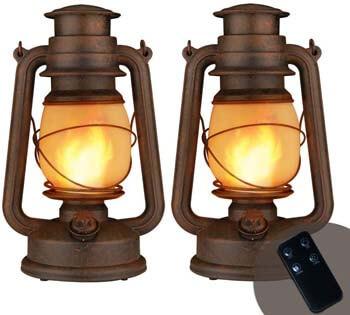 5. YINUO LIGHT LED Vintage Lantern