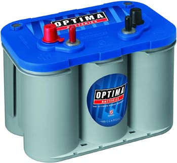 5. Optima OPT8016-103 Batteries D34M BlueTop Starting and Deep Cycle Marine Battery