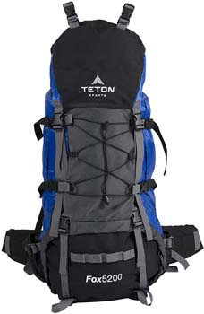 10. TETON Sports Fox 5200 Internal Frame Backpack
