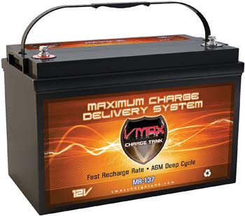9. VMAX MR137-120 AGM Sealed Marine AGM Battery