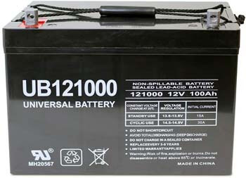3. Universal Power Group 12V 100Ah Replacement Battery