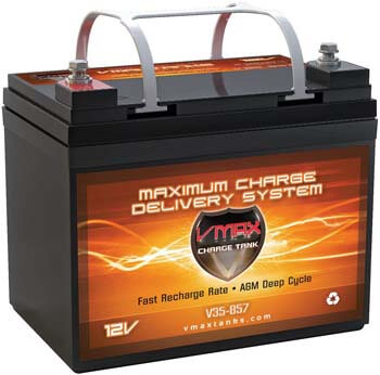 8. VMAXTANKS VMAX V35-857 12 Volt 35AH AGM Battery