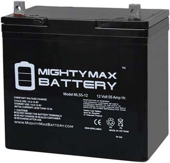 4. Mighty Max Battery12V 55Ah Power Boat Pontoon Electric Trolling Motor