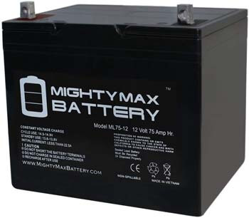 10. Mighty Max Battery 12V 75Ah SLA Battery